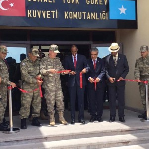 Turkish Top Gen with Somalia's PM at opening military training centre